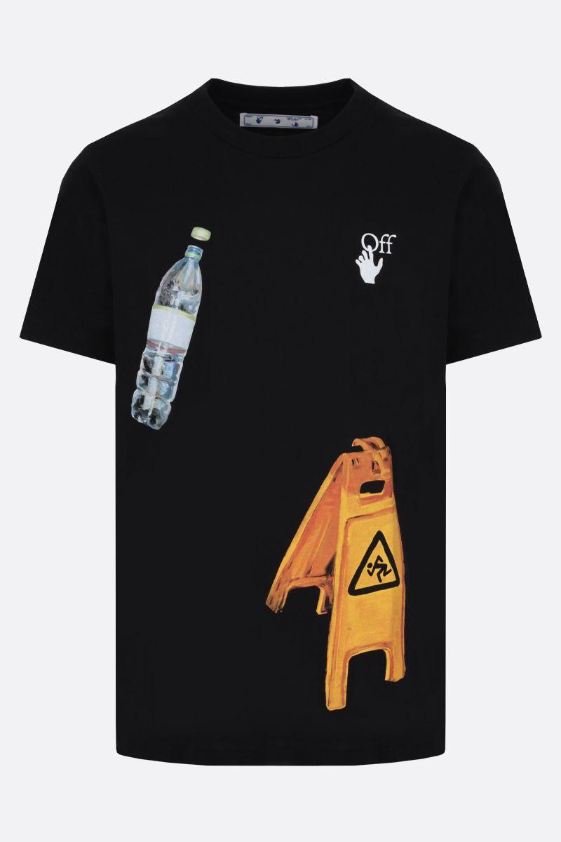 OFF WHITE: Pascal Medicine cotton t-shirt Color Black_1