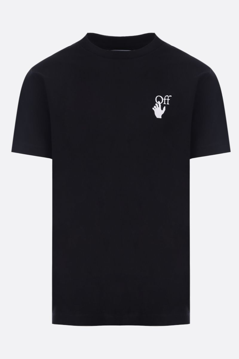 OFF WHITE: t-shirt Cut Here in cotone Colore Nero_1