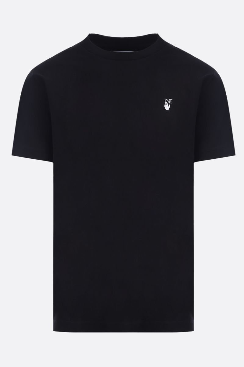 OFF WHITE: t-shirt Flock Arrows in cotone Colore Nero_1
