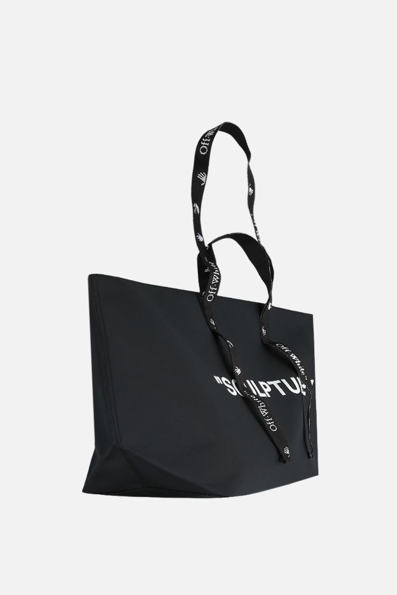 OFF WHITE: Commerical vinyl tote Color Black_2