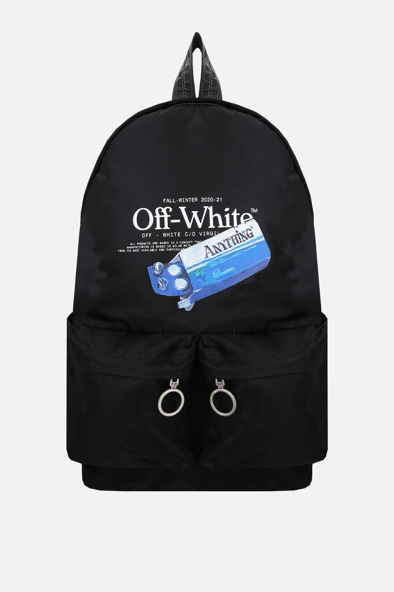 OFF WHITE: Pascal Medicine nylon backpack Color Black_1