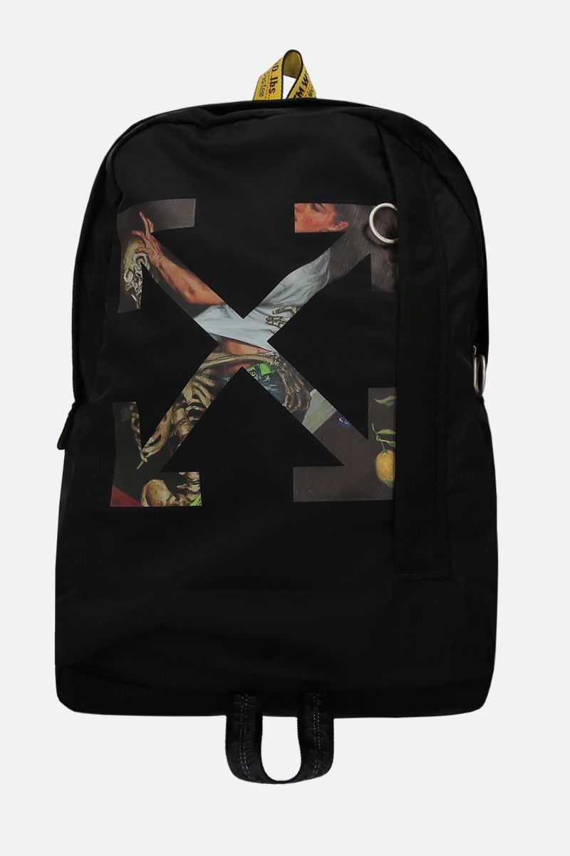 OFF WHITE: Pascal Arrow Easy nylon backpack Color Black_1