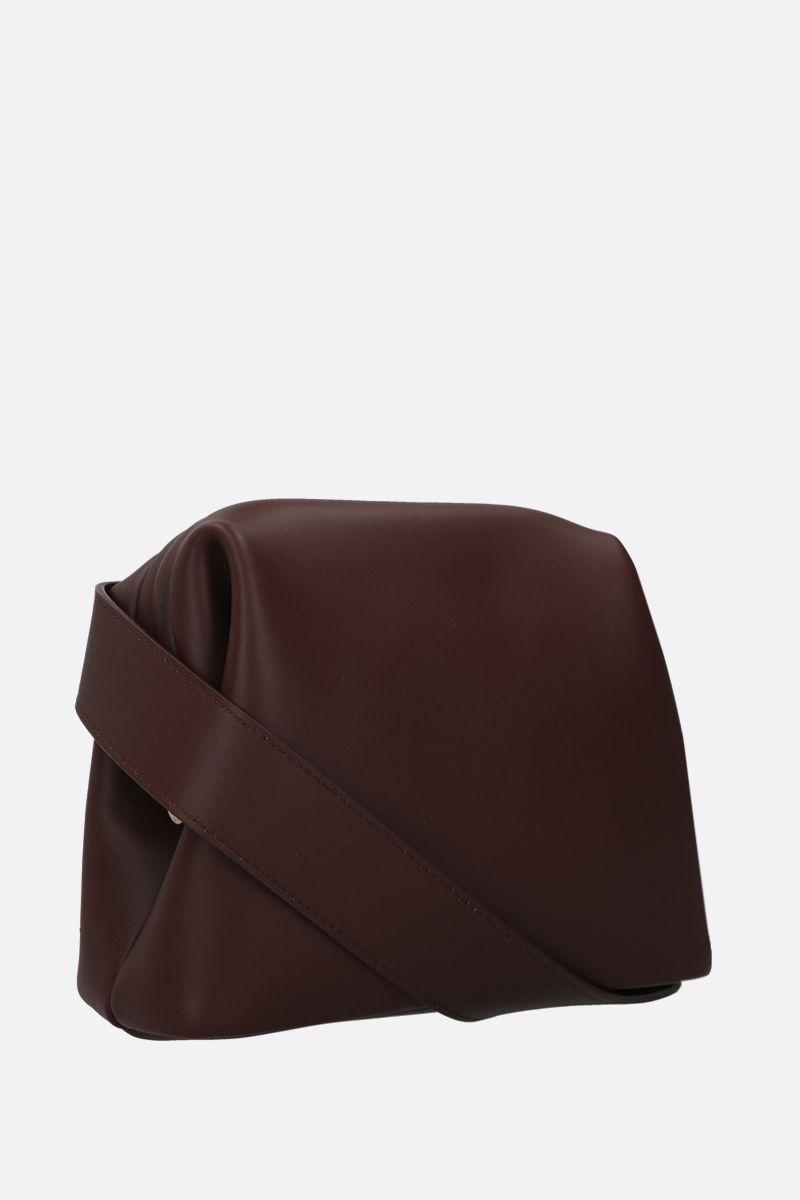 OSOI: Brot mini smooth leather crossbody bag Color Brown_2