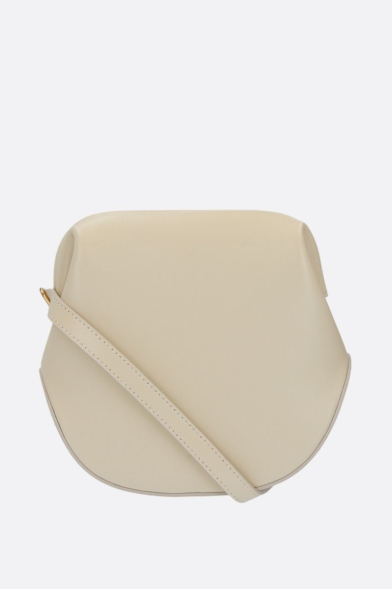 OSOI: Toast Brot smooth leather shoulder bag Color White_2