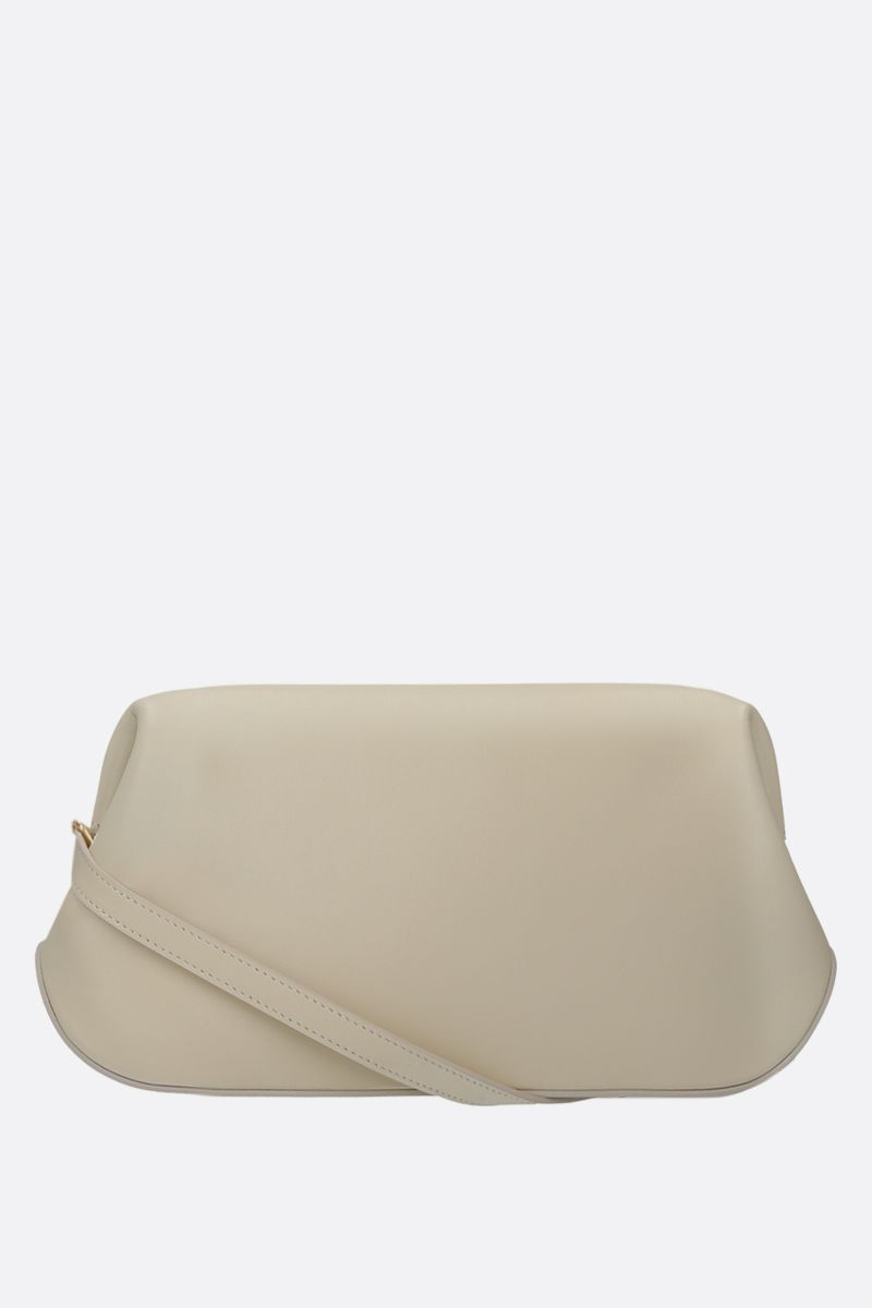 OSOI: Dutch Brot smooth leather shoulder bag Color White_2