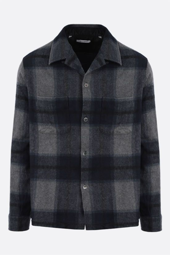 OUR LEGACY: Heusen boxy-fit check flannel shirt Color Blue_1