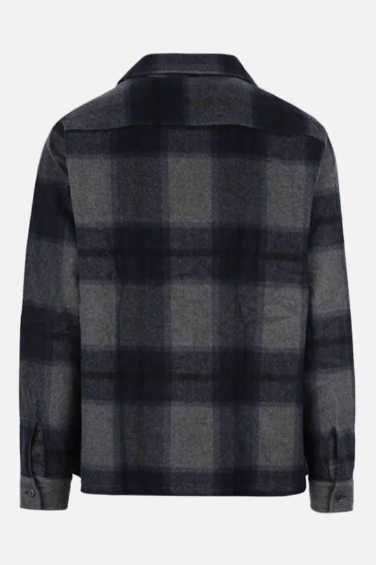 OUR LEGACY: Heusen boxy-fit check flannel shirt Color Blue_2