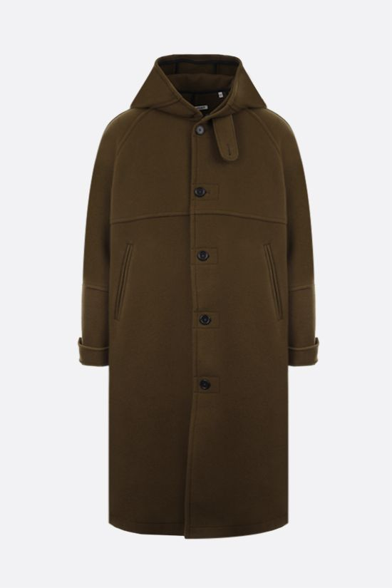 OUR LEGACY: Duffel single-breasted wool coat Color Brown_1