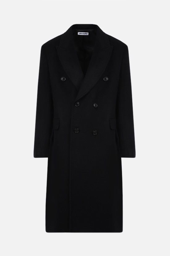 OUR LEGACY: Whale double-breasted mohair wool blend coat Color Black_1