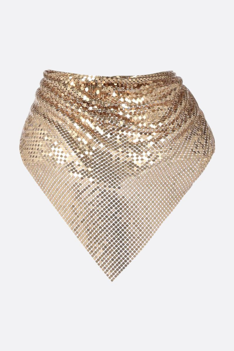PACO RABANNE: metal mesh triangle scarf Color Gold_2