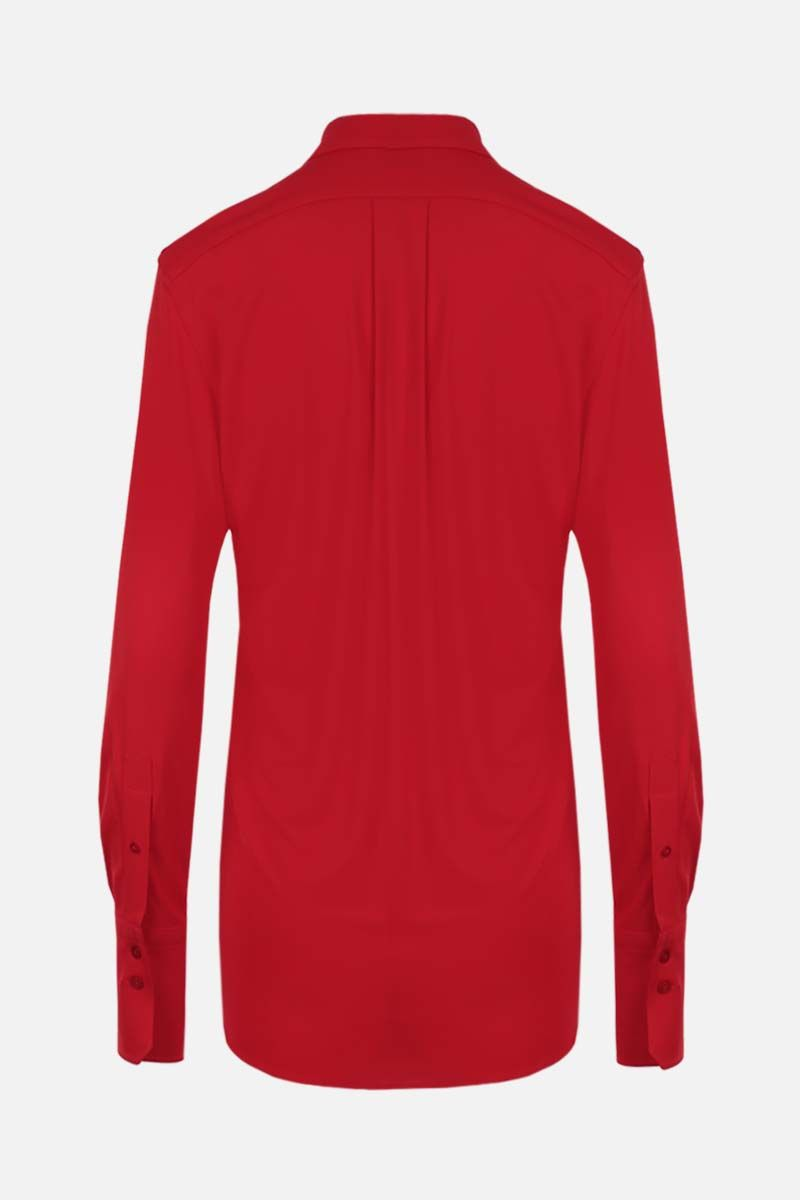 PATOU: jersey draped shirt Color Red_2