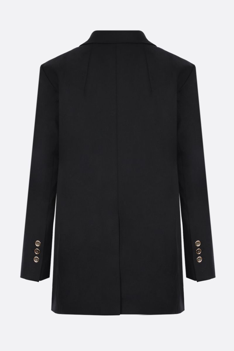PATOU: logo-detailed wool single-breasted jacket Color Black_2