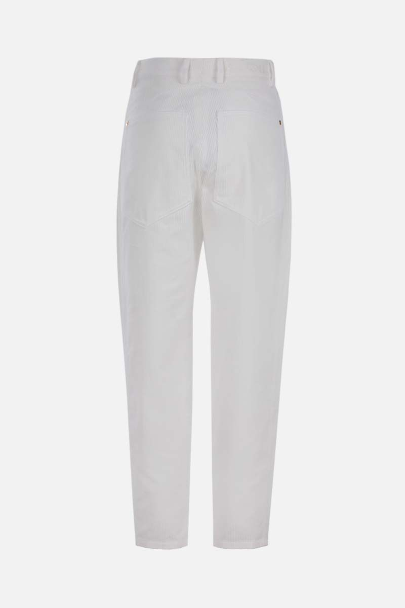 PATOU: baggy-fit ribbed velvet pants Color White_2