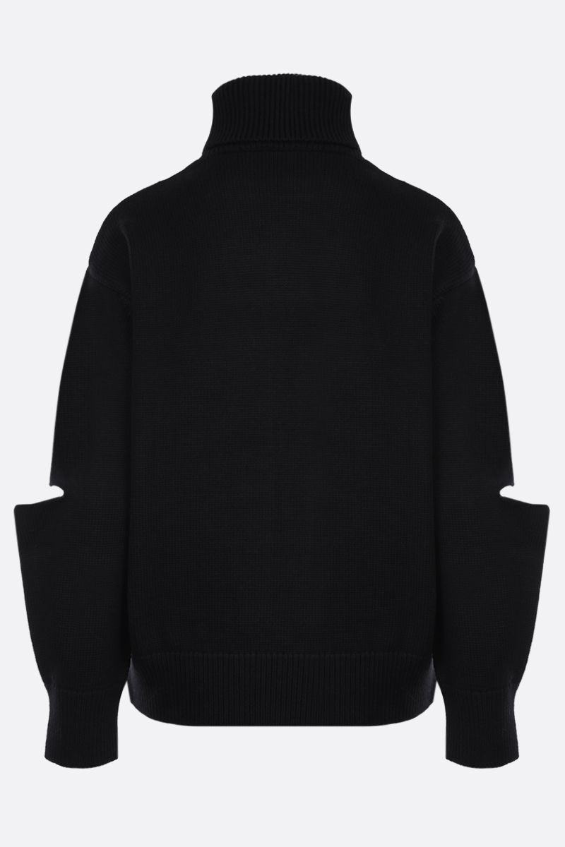 PATOU: Patou embroidered wool turtleneck Color Black_2