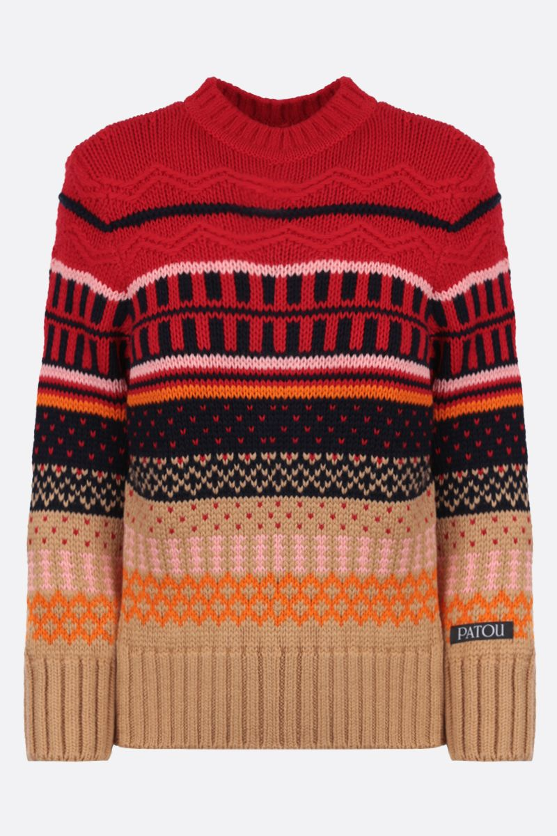 PATOU: geometric motif wool pullover Color Multicolor_1