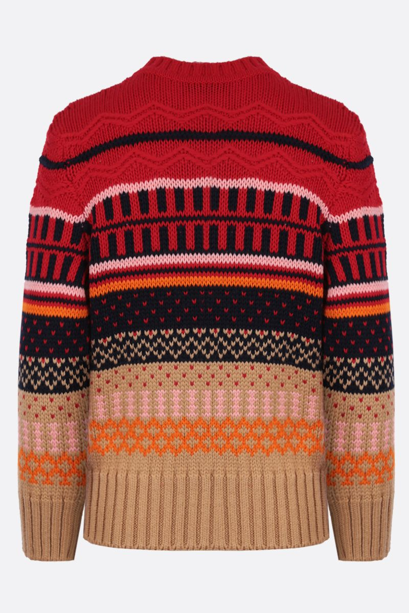 PATOU: geometric motif wool pullover Color Multicolor_2
