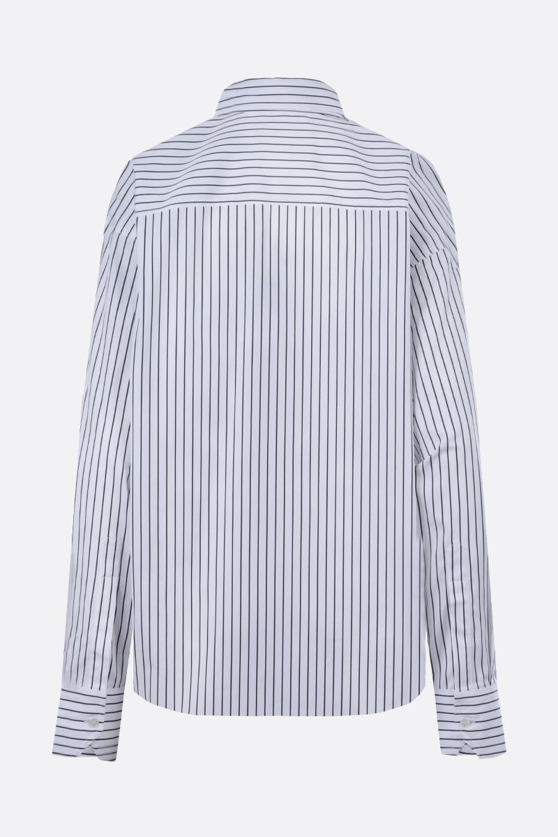 PLAN C: oversize striped cotton shirt Color White_2