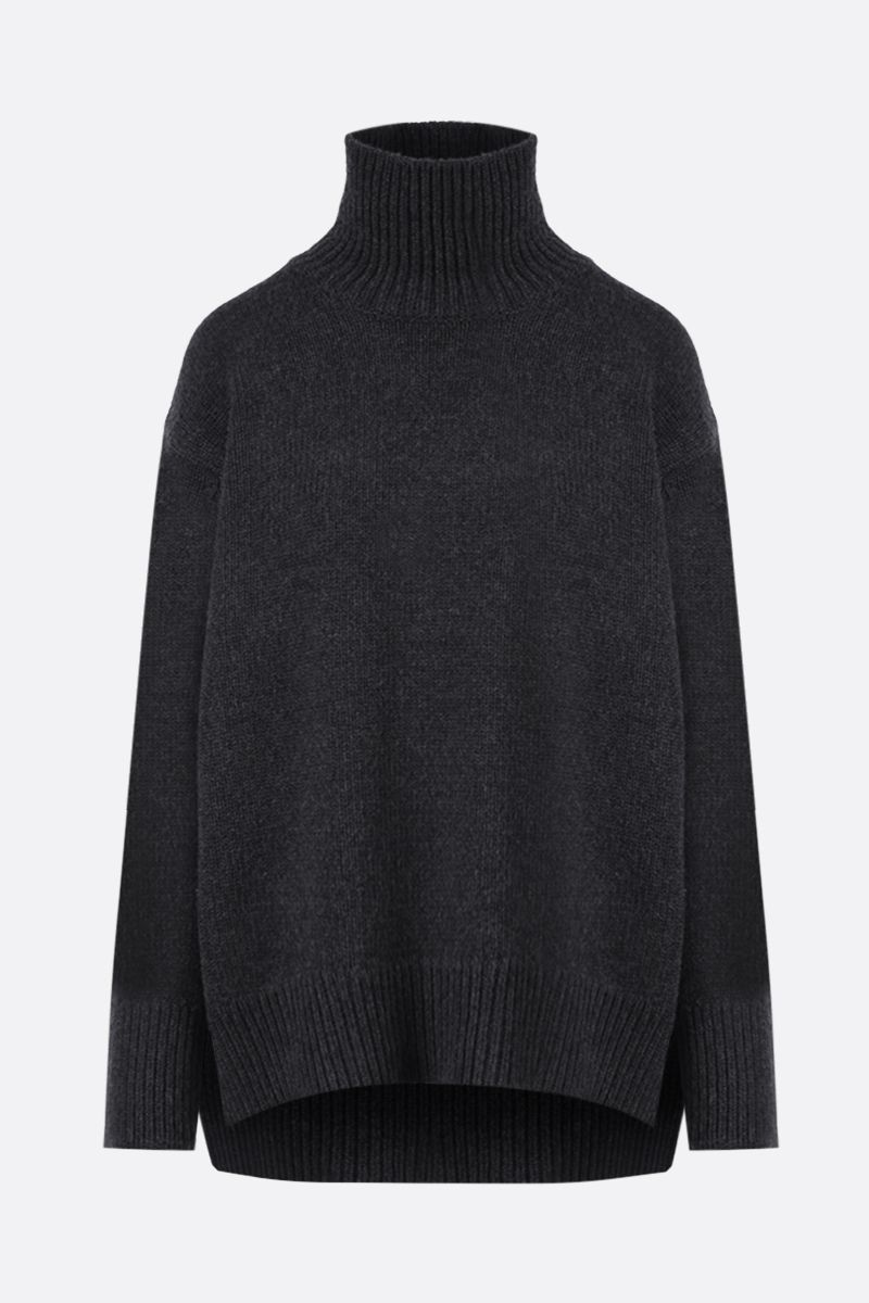 PLAN C: wool and cashmere oversize turleneck Color Grey_1