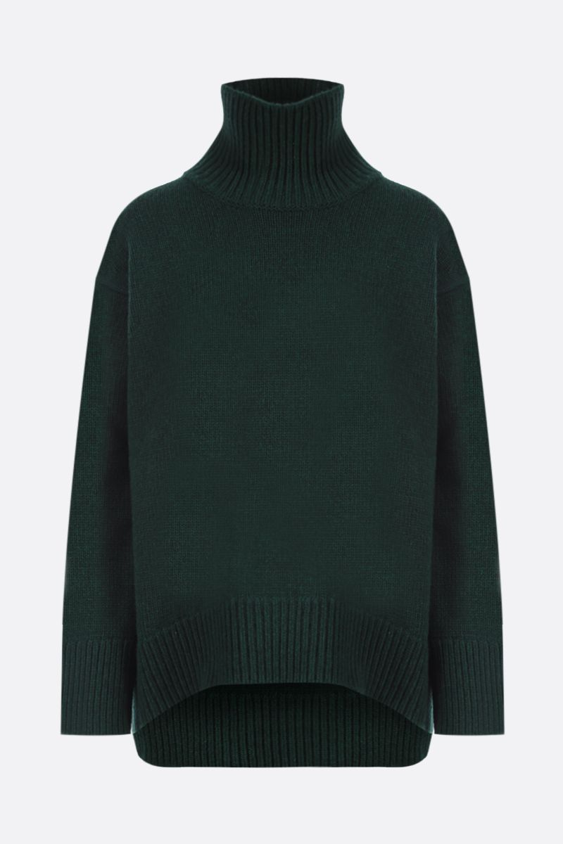 PLAN C: wool and cashmere oversize turleneck Color Green_1