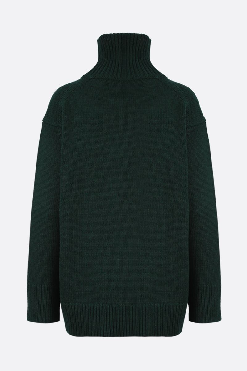 PLAN C: wool and cashmere oversize turleneck Color Green_2