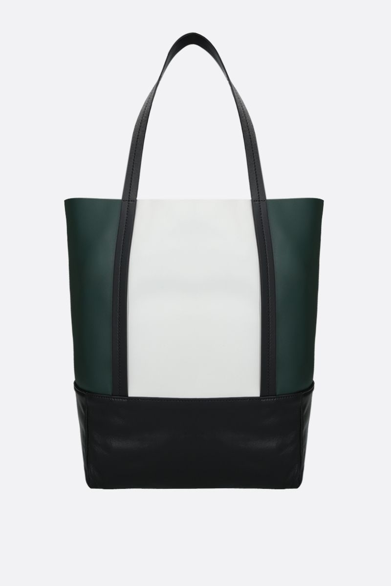 PLAN C: soft nappa small shopping bag Color Green_1
