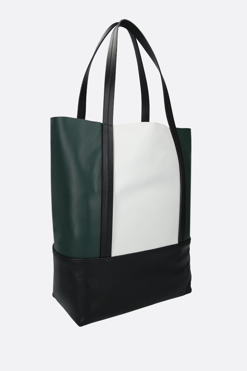 PLAN C: soft nappa small shopping bag Color Green_2