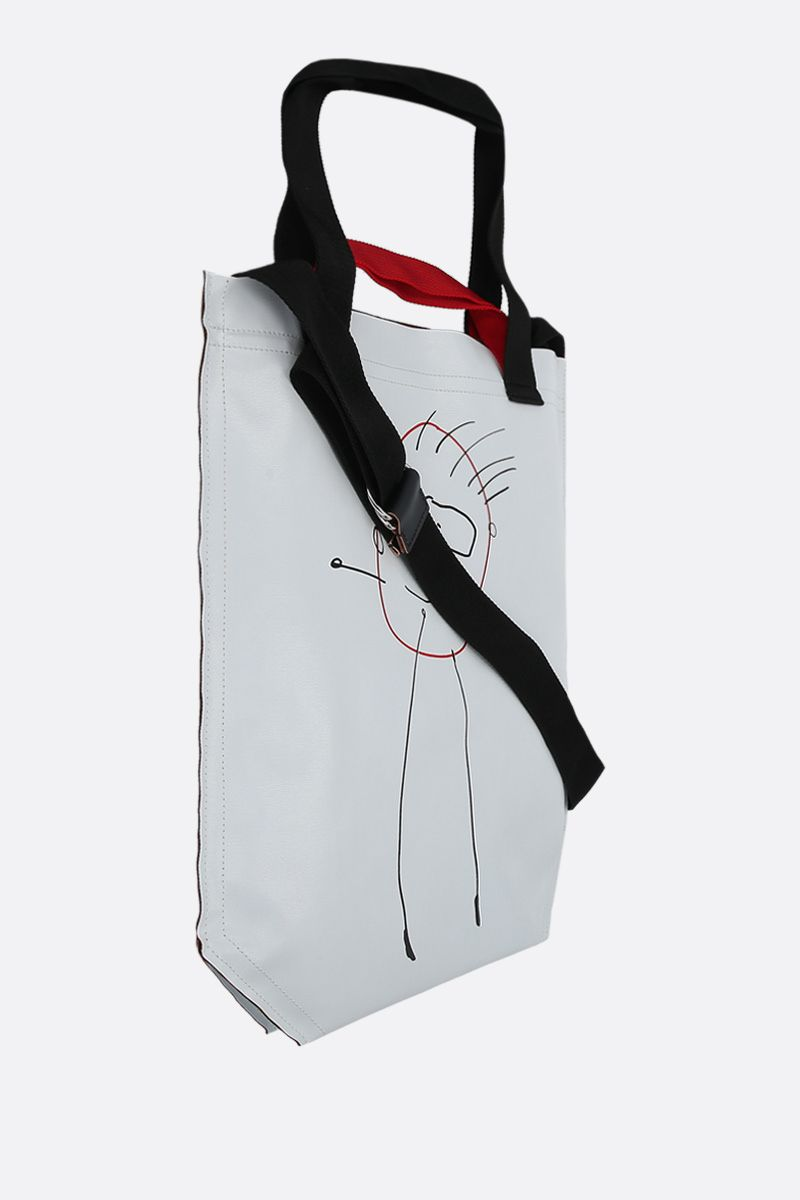 PLAN C: coated canvas medium shopping bag Color White_2