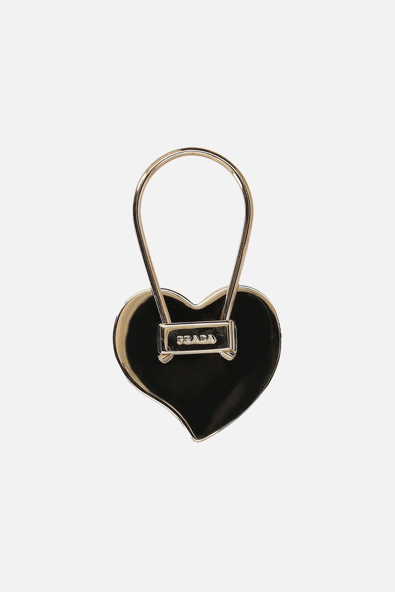 PRADA: Saffiano leather heart key holder Color Red_2