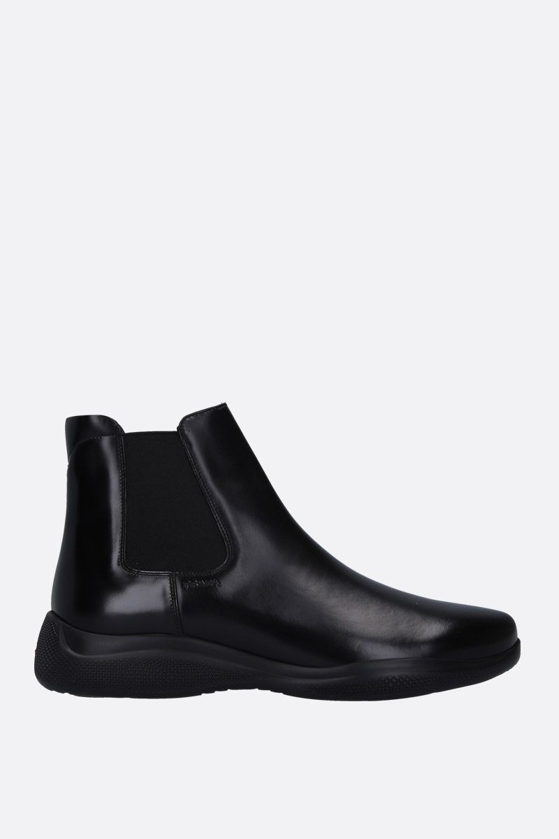 PRADA: brushed calf beatles boots Color Black_1