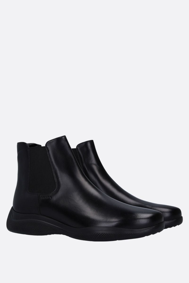 PRADA: brushed calf beatles boots Color Black_2