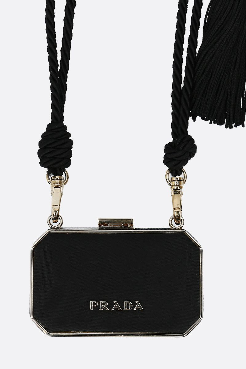 PRADA: nylon and meatl Vanity Case Color Black_2