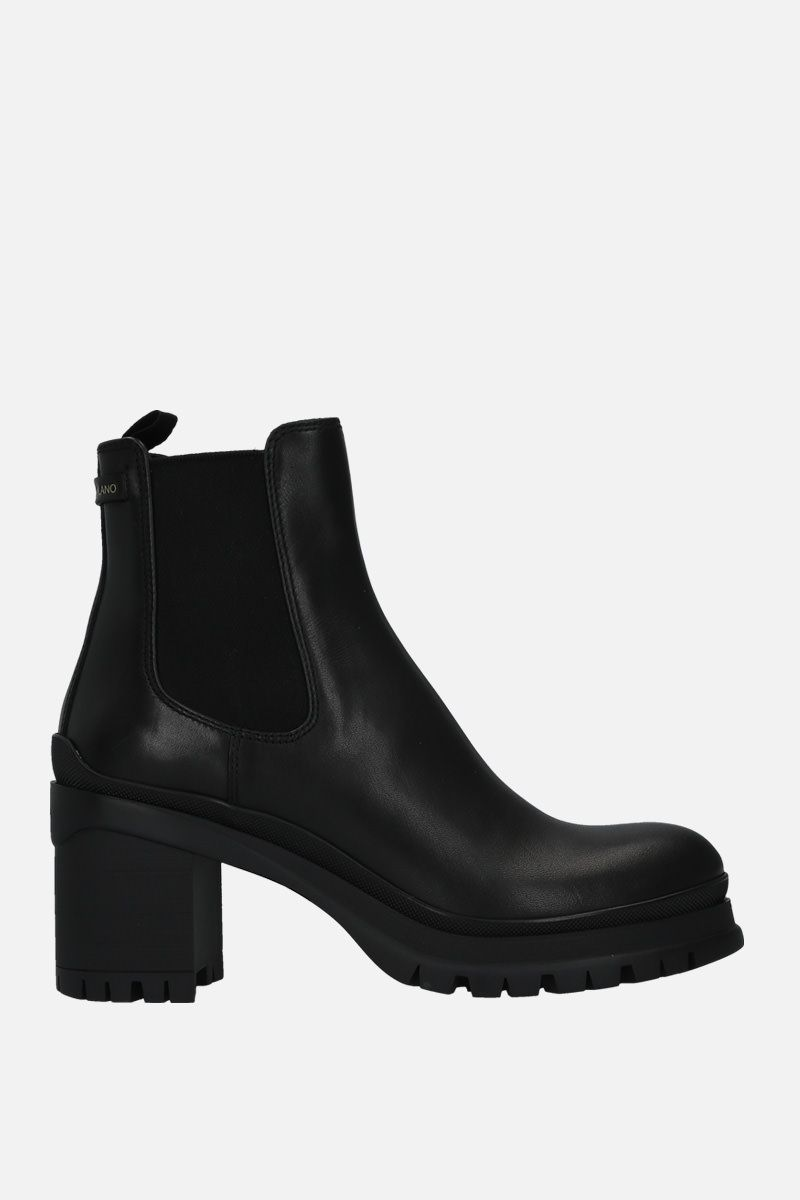 PRADA: Montana leather ankle boots Color Black_1