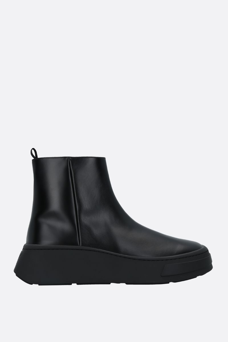 PRADA: Rois brushed leather ankle boots Color Black_1
