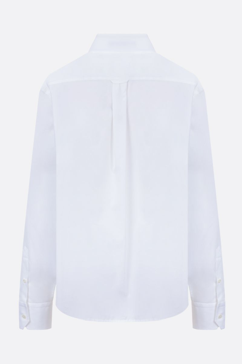 PRADA: logo-detailed cotton shirt Color White_2