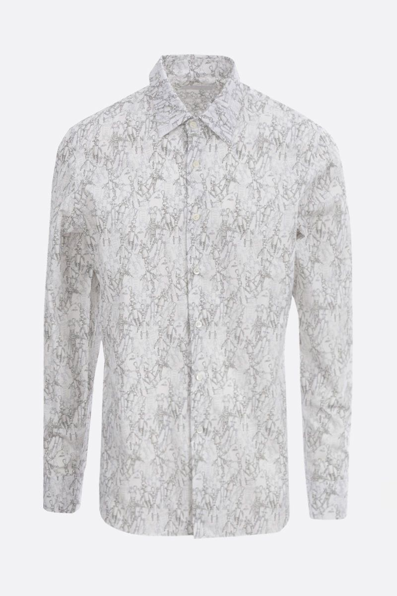 PRADA: Robot print cotton shirt Color Grey_1