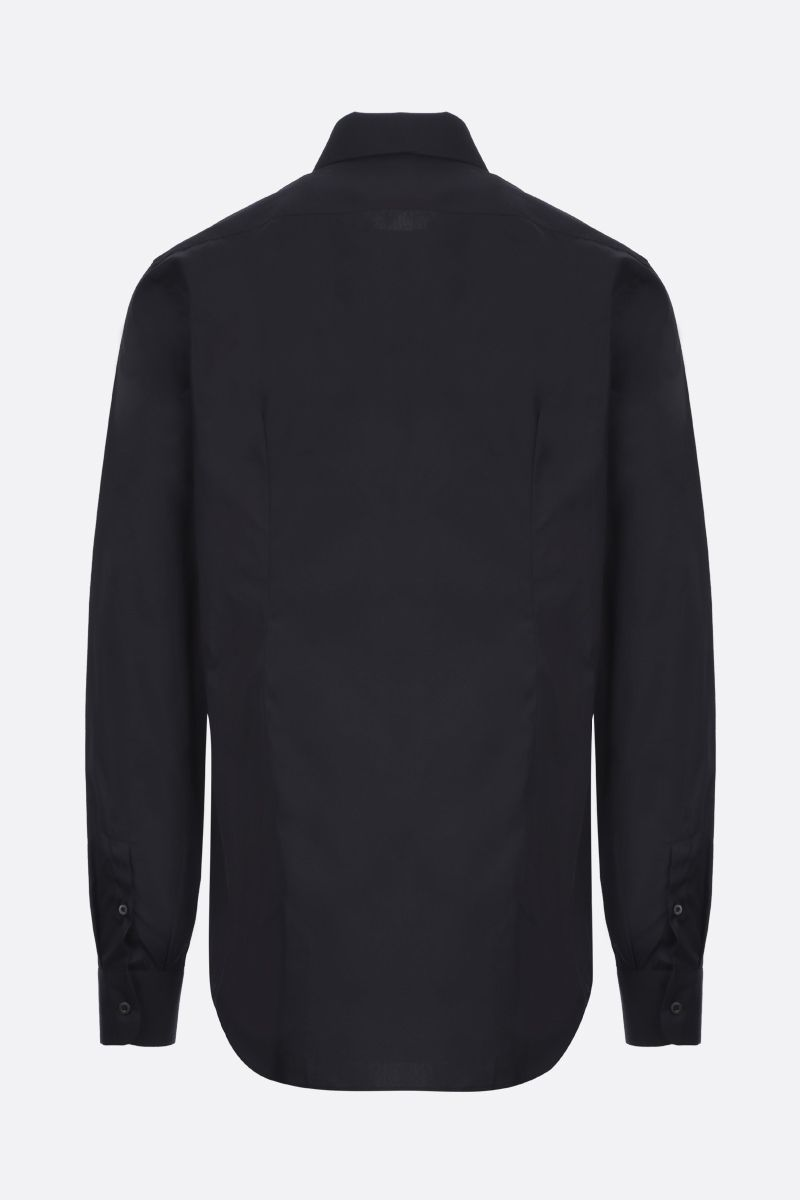 PRADA: logo-detailed cotton shirt Color Black_2