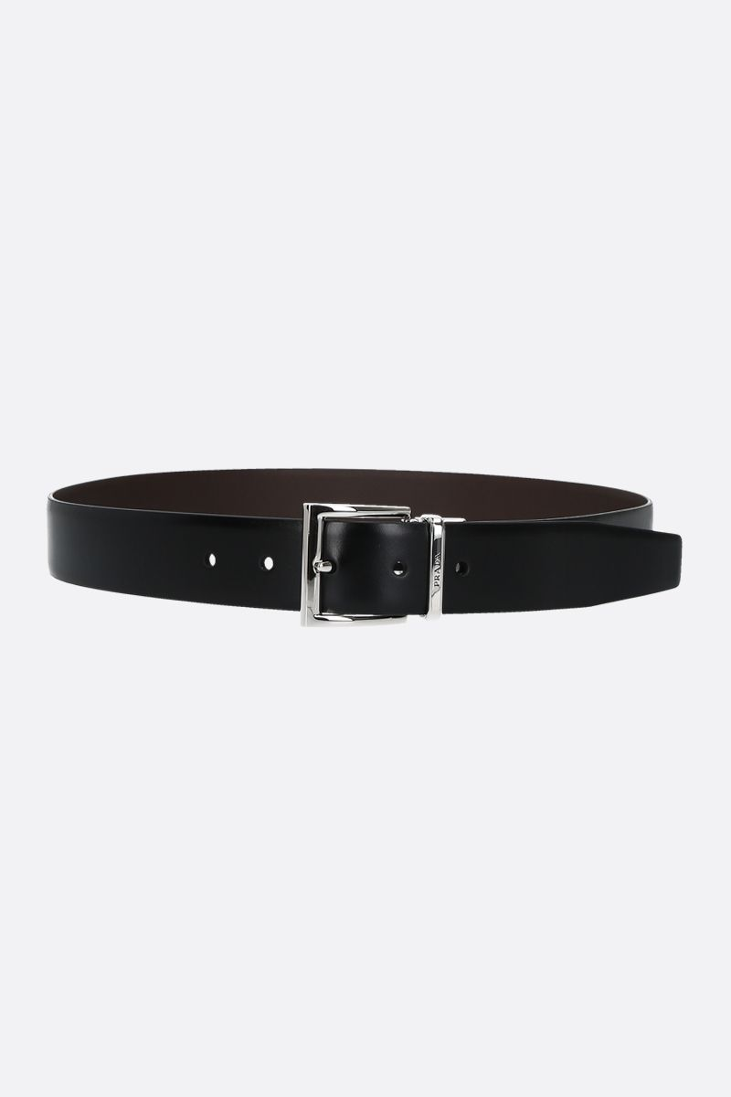PRADA: smooth leather reversible belt_1