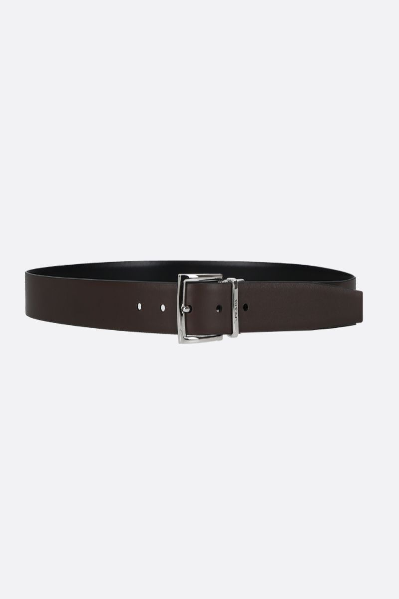 PRADA: smooth leather reversible belt_2