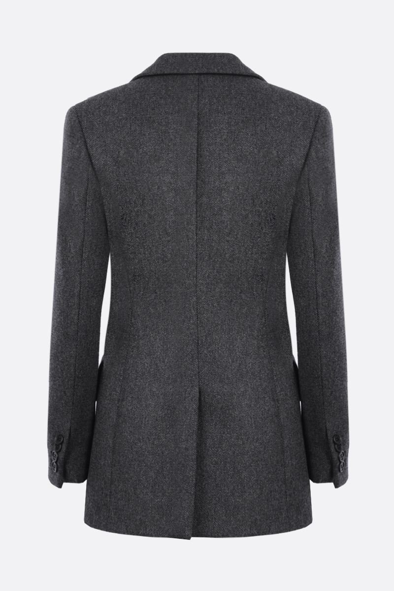 PRADA: wool single-breasted jacket Color Grey_2