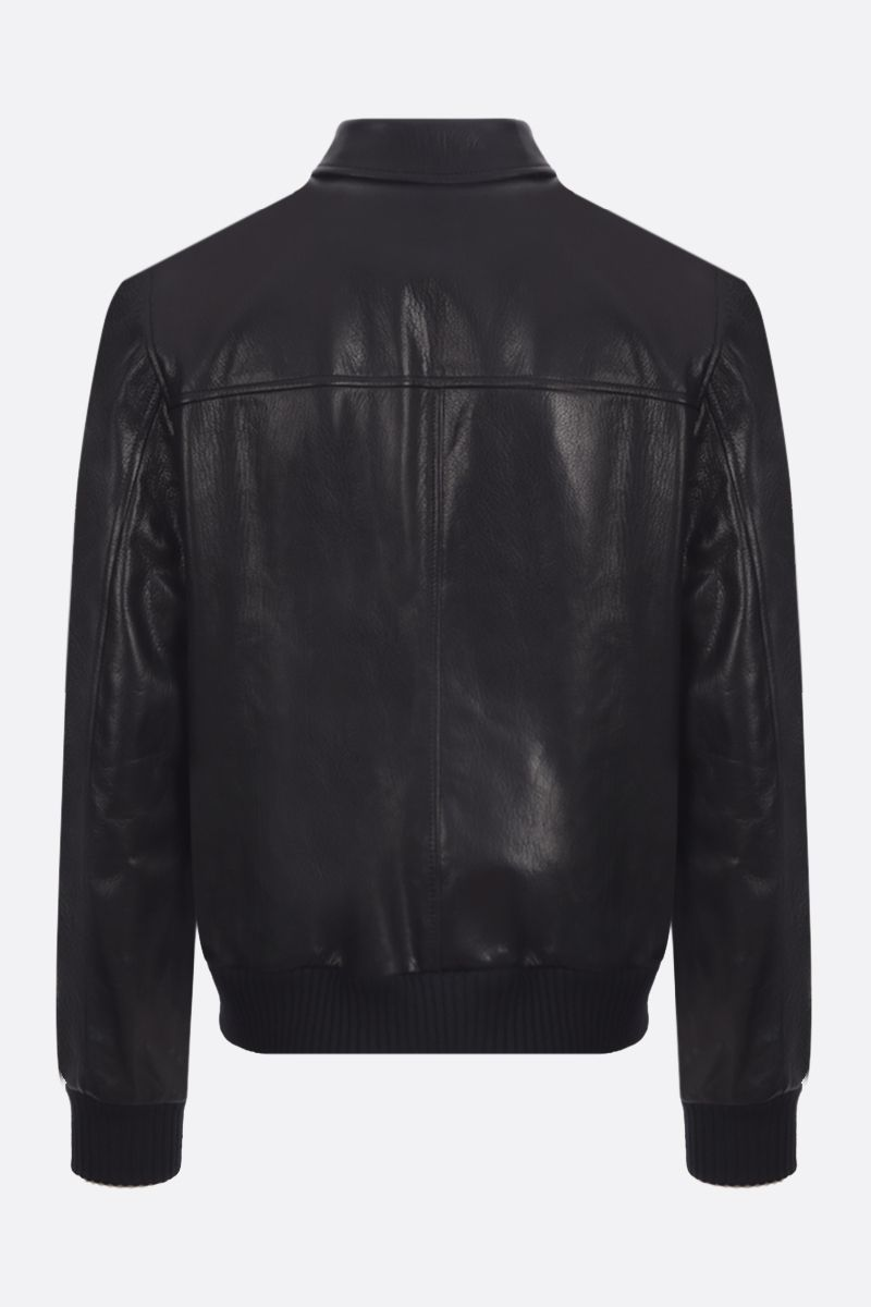 PRADA: grained nappa leather full-zip jacket Color Black_2