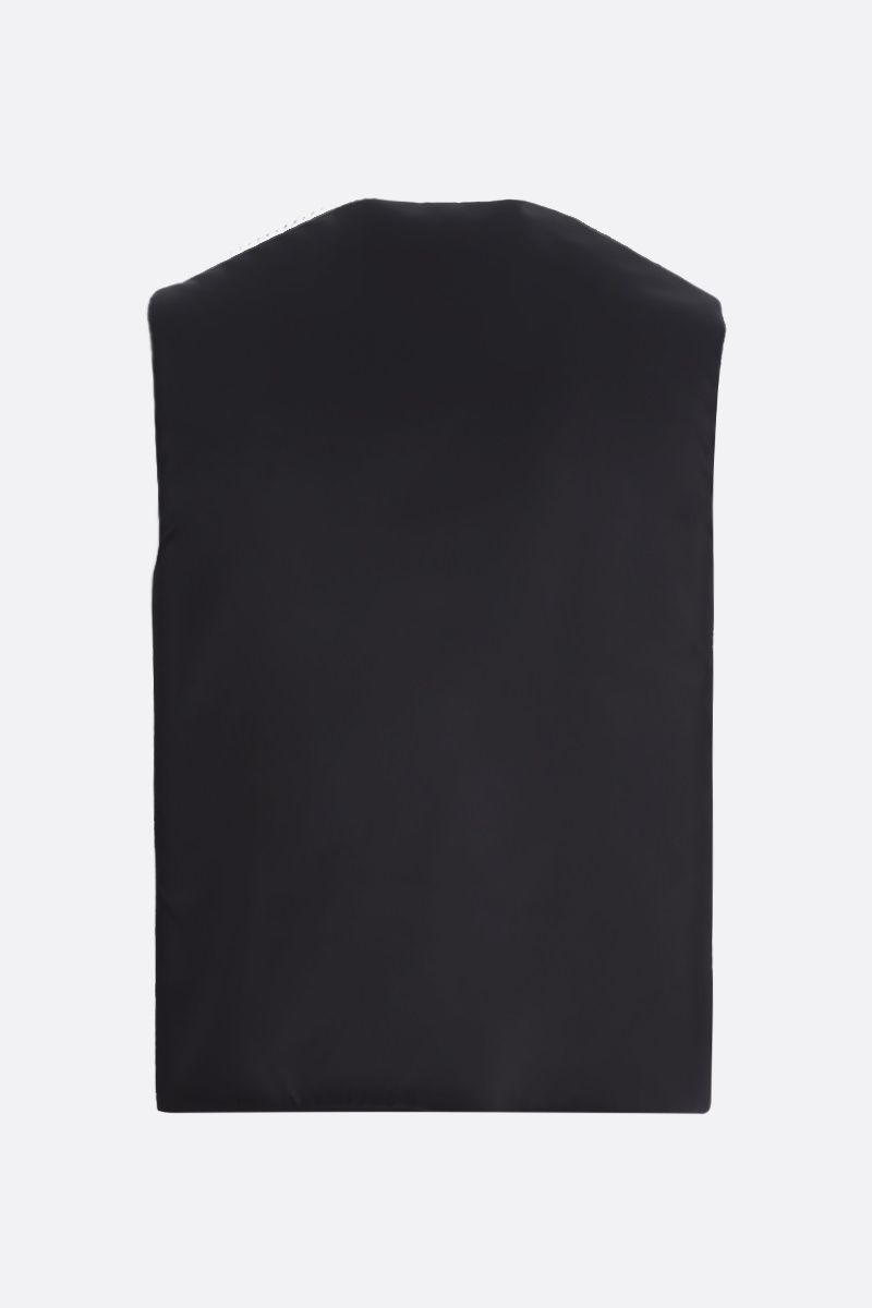 PRADA: logo-detailed re-nylon padded vest Color Black_2