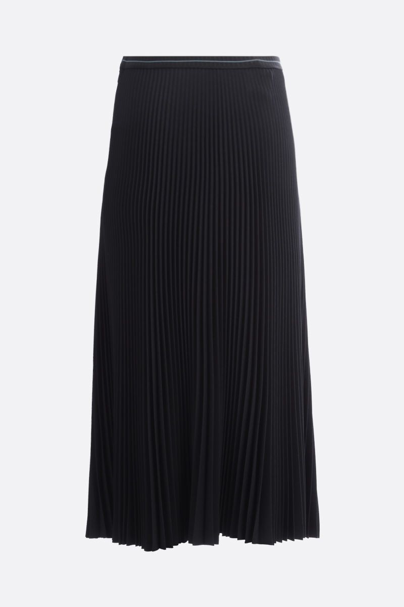 PRADA: twill pleated skirt Color Black_2