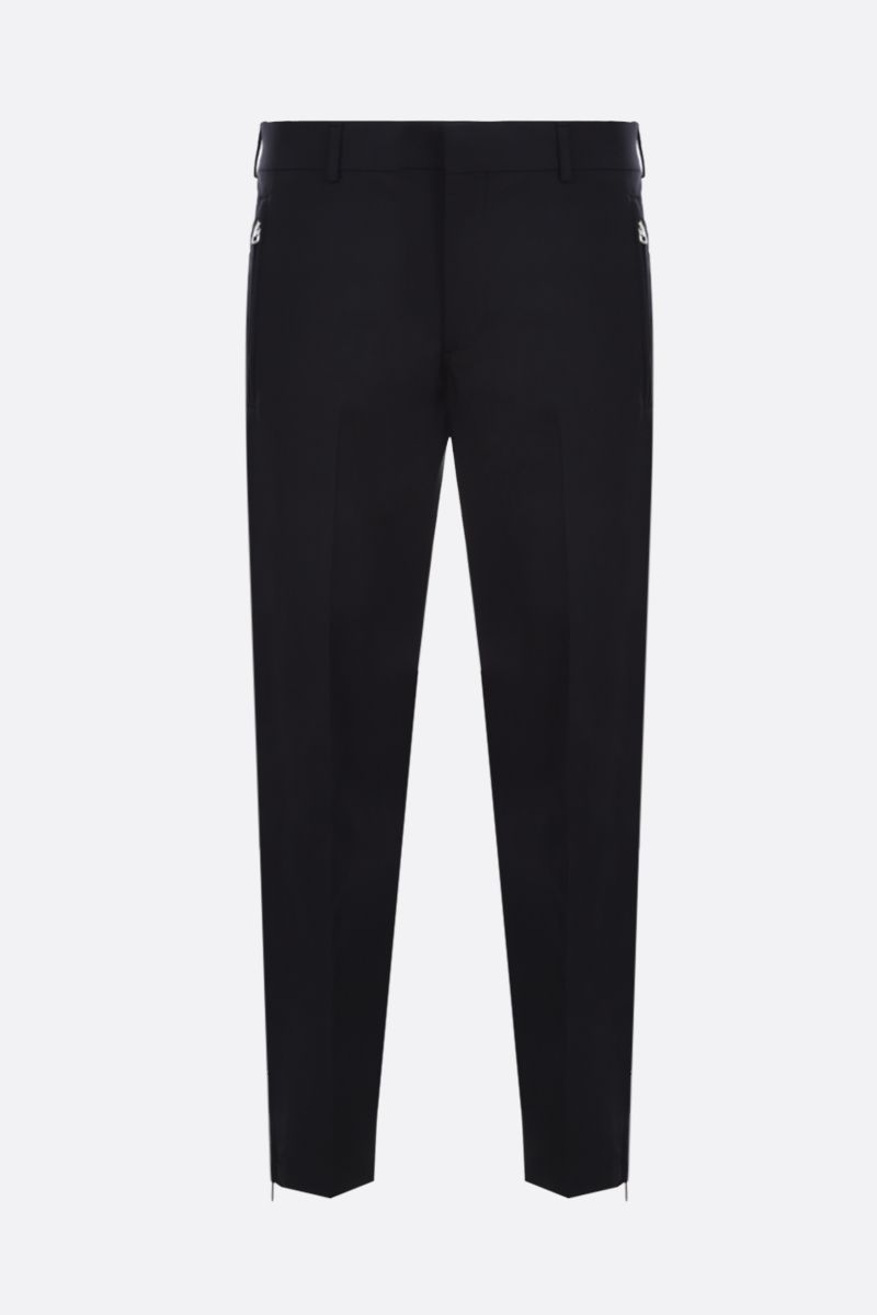 PRADA: stretch technical fabric slim pants Color Black_1