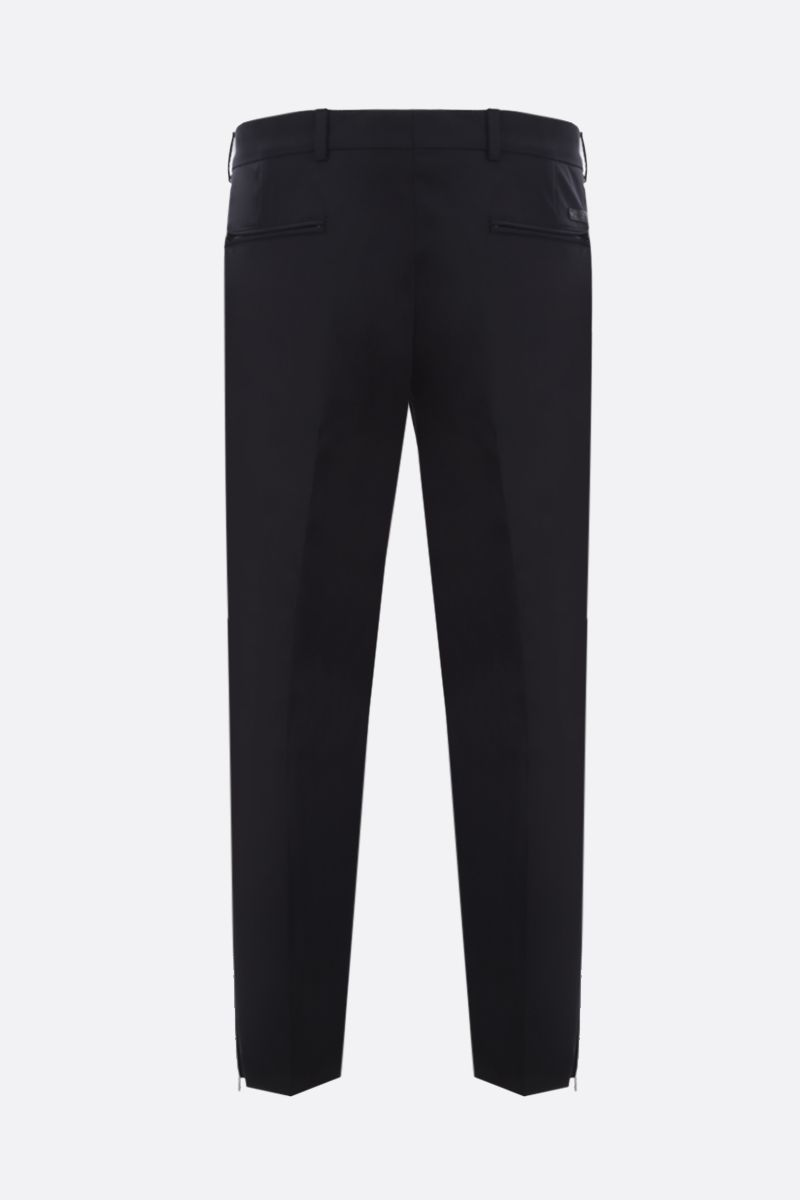 PRADA: stretch technical fabric slim pants Color Black_2