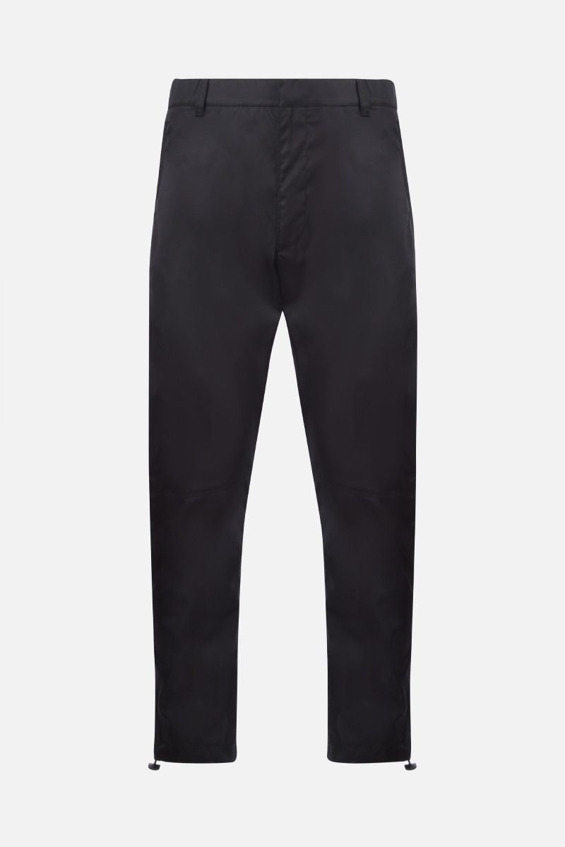 PRADA: pantalone slim-fit in re-nylon Colore Nero_1