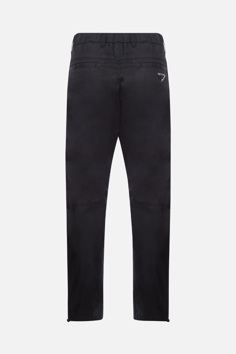 PRADA: pantalone slim-fit in re-nylon Colore Nero_2