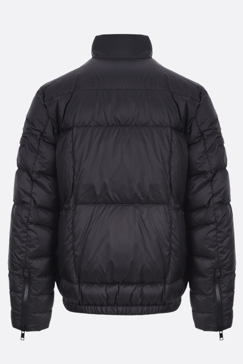 PRADA: logo-detailed nylon down jacket Color Black_2