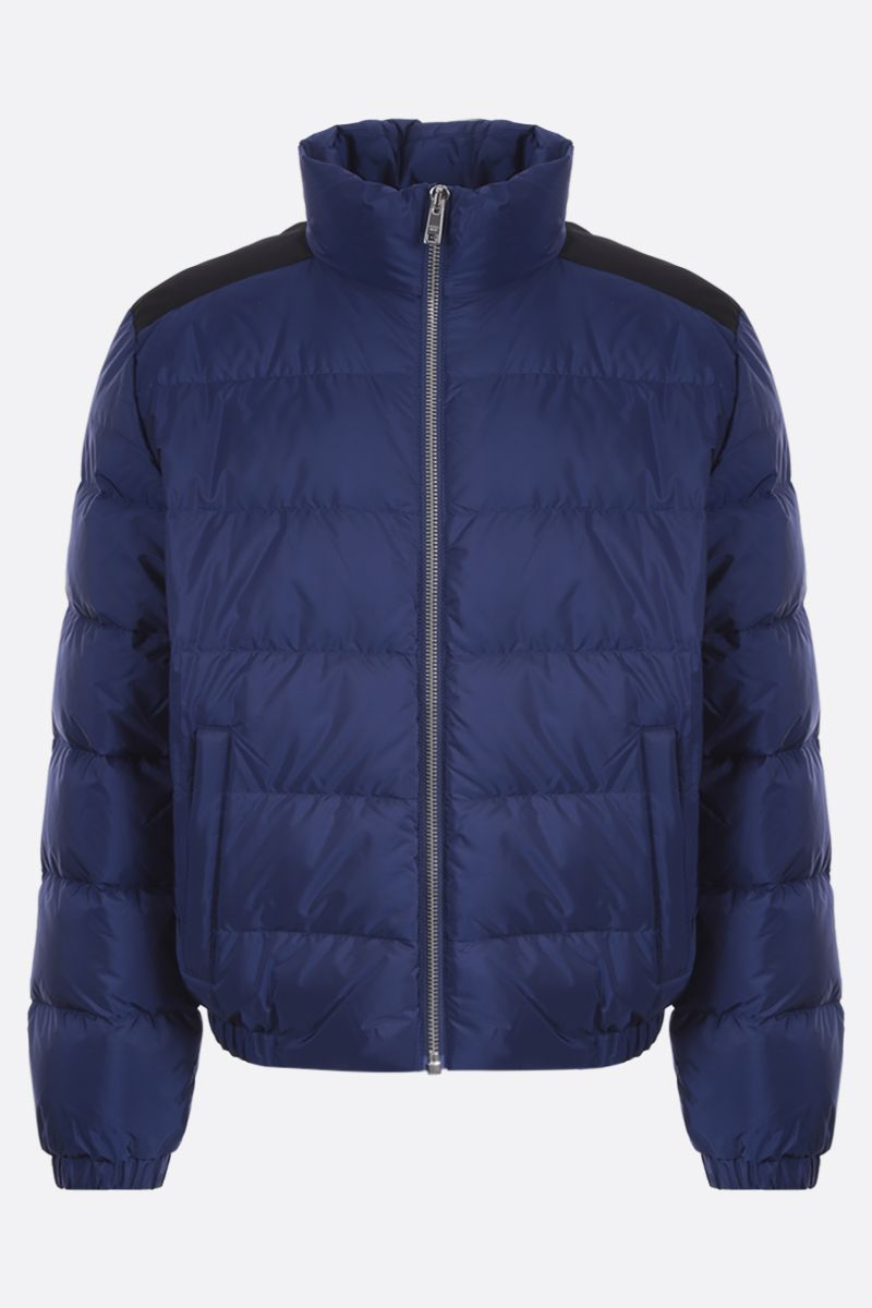 PRADA: logo-detailed recycled nylon down jacket_1