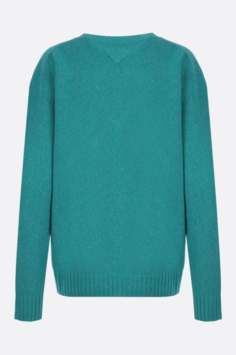 PRADA: loose-fit wool cashmere pullover Color White_2