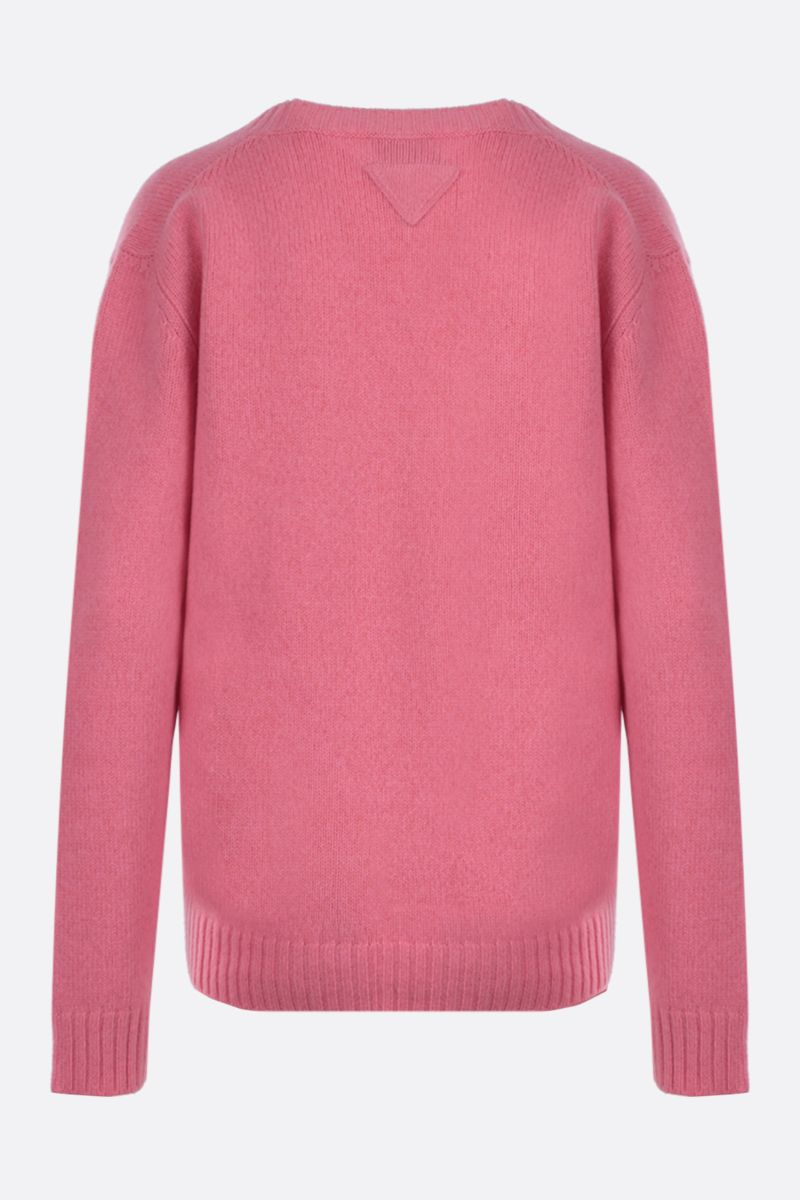 PRADA: loose-fit wool cashmere pullover Color Pink_2